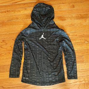 AirJordan boys, long sleeve hooded t-shirt (black)